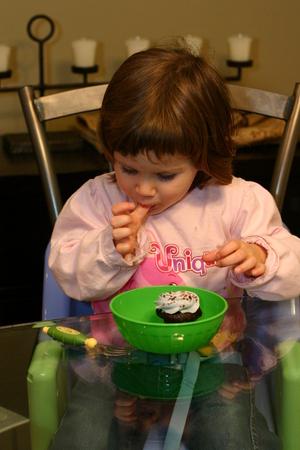 Enjoying a Crave cupcake