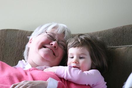 Alice loves her Auntie Rene
